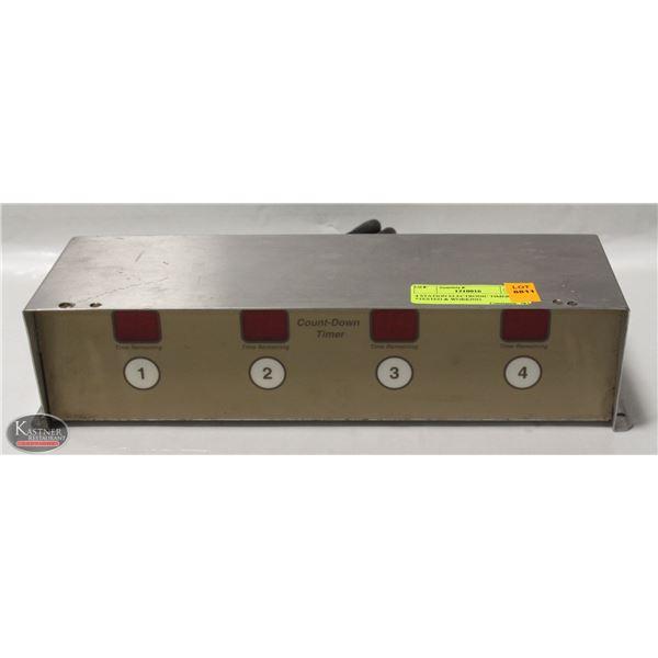 4 STATION ELECTRONIC TIMER 115V, *TESTED & WORKING