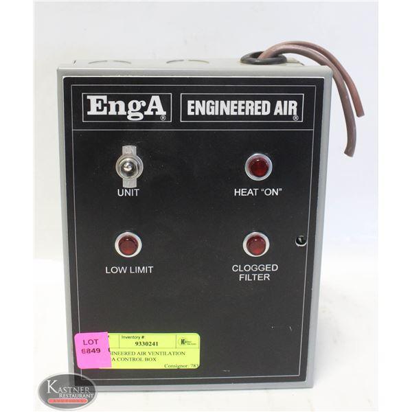 ENGINEERED AIR VENTILATION ENGA CONTROL BOX