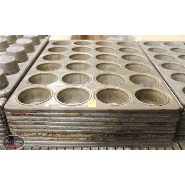 LOT OF 10 COMMERCIAL 24 CUP MUFFIN PANS
