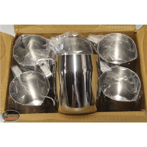 CASE OF 6 NEW JOHNSON ROSE 14 OZ FROTHING PITCHERS