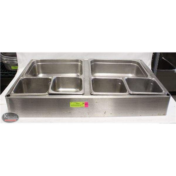 """COUNTER TOP INSERT HOLDER WITH S/S INSERTS 28""""*18"""""""