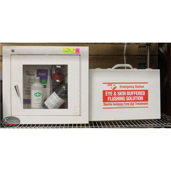 WALL MOUNT CABINATE W/ 2 EXTINGUISHERS