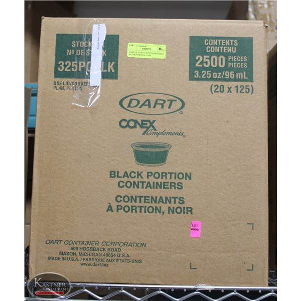 CASE OF DART 3.25 OZ DISPOSABLE BLACK PORTION CUPS