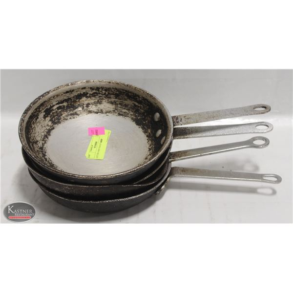 "LOT OF FOUR 8"" FRYING PANS"