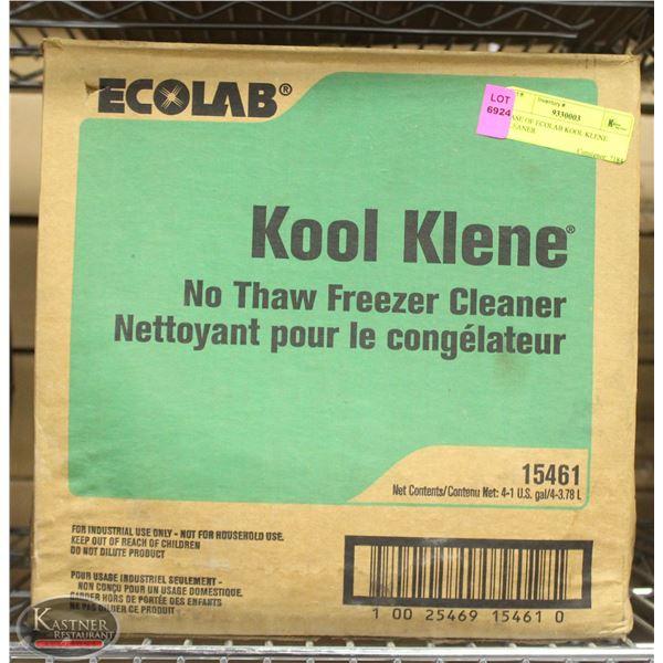 CASE OF ECOLAB KOOL KLENE CLEANER