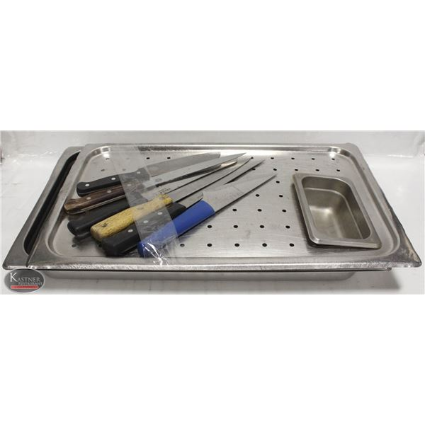 CARVING STAINLESS STEEL COVER AND PAN
