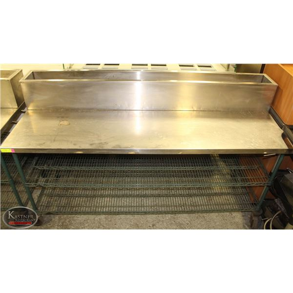 6' STAINLESS STEEL TOP PREP TABLE ON CASTERS
