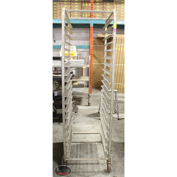 20 SLOT COMMERCIAL ALUMINUM BAKERS RACK