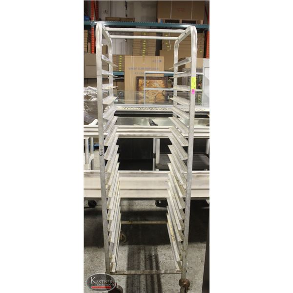 18 SLOT COMMERCIAL ALUMINUM BAKERS RACK