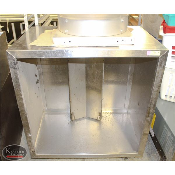 """36"""" SQUARED STAINLESS STEEL CANOPY W/ ROOFTOP"""