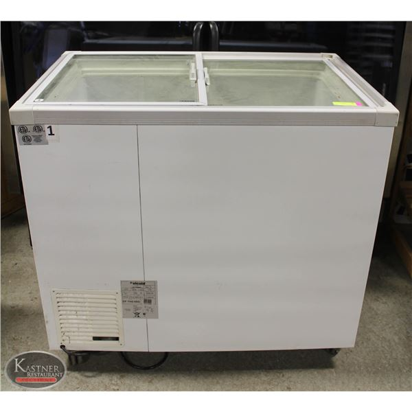 CELCOLD GLASS TOP ICE CREAM FREEZER 128W