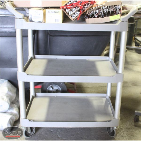RUBBERMAID 3 TIER WHEELED BUSSING CART