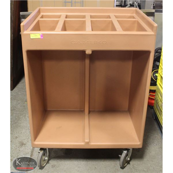 CAMBRO CUTLERY AND CONDIMENT CART