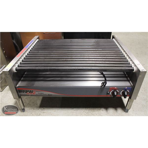 LARGE APW WYOTT HOT DOG ROLLER SYSTEM