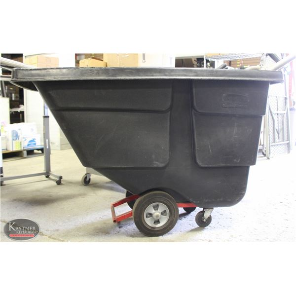 RUBBERMAID TILT TRUCK BLACK 1/2 CUBIC YARD