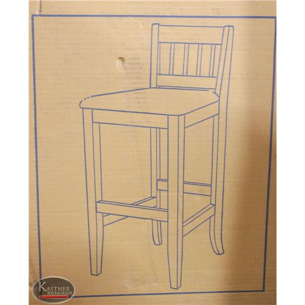 """NEW BARSTOOL W/DECORATIVE S/S ACCENTS 5'14"""""""