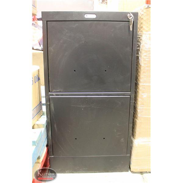 NEW 2 DOOR VERTICAL BLACK CABINET GRAND AND TOY