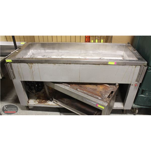 5 FOOT STAINLESS STEEL STEAM TABLE