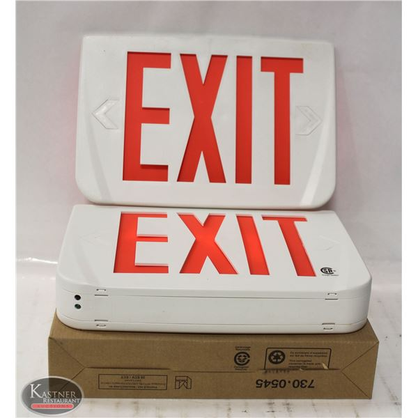 NEW LUMACELL PLASTIC LED EXIT SIGN