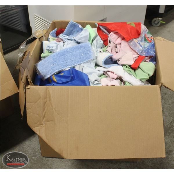 LARGE BOX OF ASSORTED RAGS