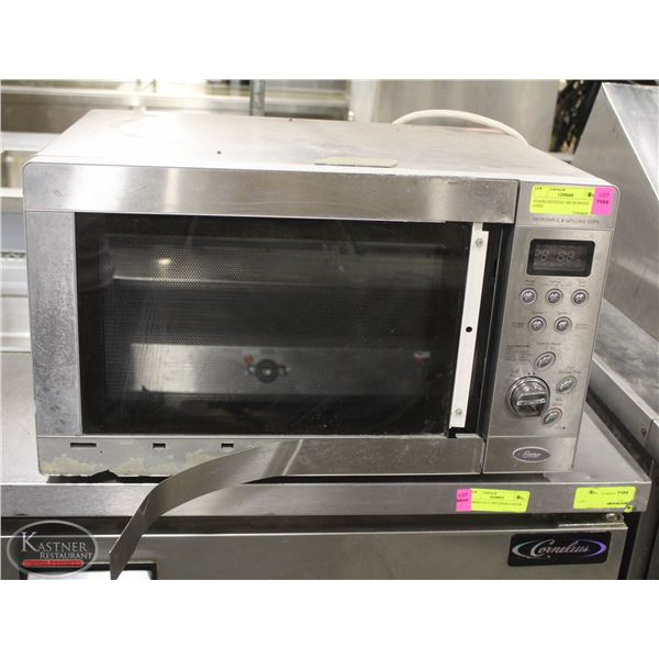 STAINLESS STEEL MICROWAVE OVEN *AS IS*