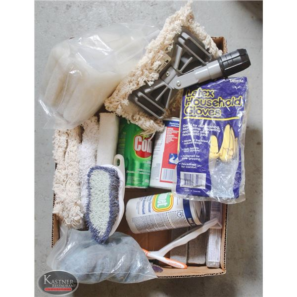 BOX OF NEW PROFESSIONAL CLEANING SUPPLIES INCL. 4X
