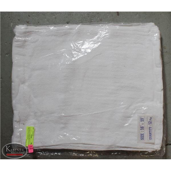NEW BAG OF WHITE PROFESSIONAL 100% COTTON WIPING &
