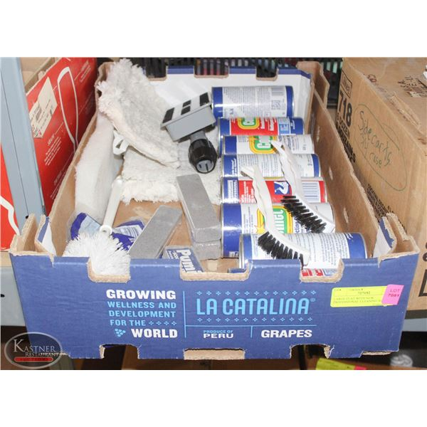 LARGE FLAT WITH NEW PROFESSIONAL CLEANING SUPPLIES
