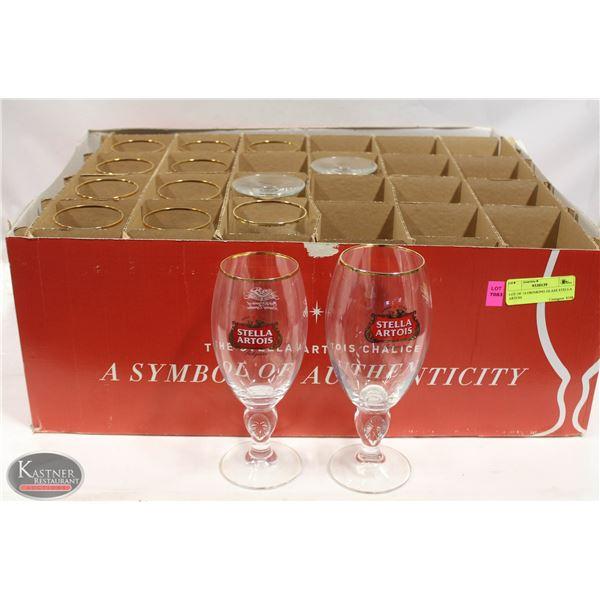 LOT OF 14 DRINKING GLASS STELLA  ARTOIS