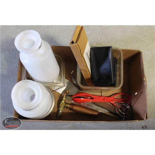 BOX OF MISC. ITEMS(INSERT)
