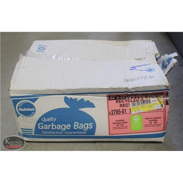 "BOX OF 100 BLACK GARBAGE BAGS RALSTON 35""X50"""