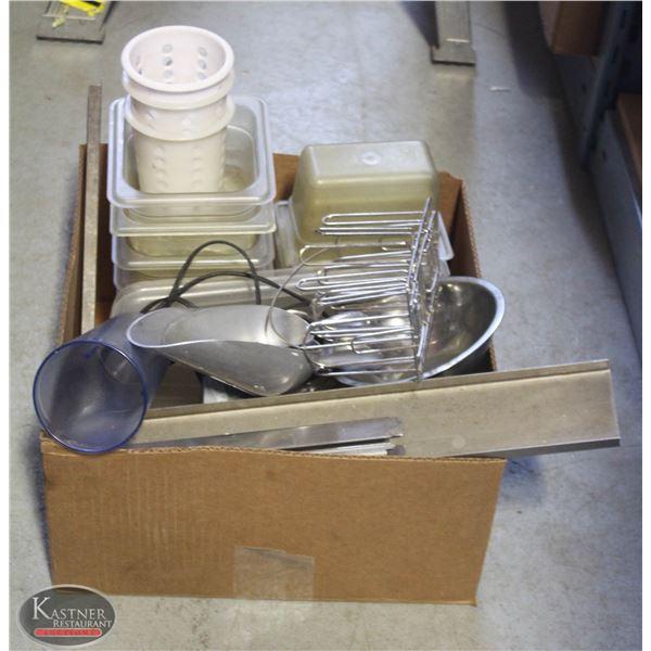 BOX OF MISC. ITEMS(PLASTIC INSERT)