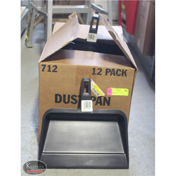 LOT OF 12 BLACK DUST PAN CONTINENTAL