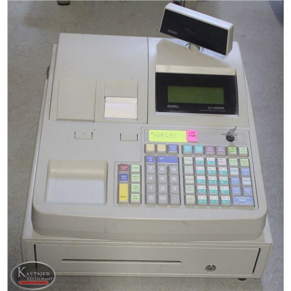 ROYAL ALPHA 9500ML CASH REGISTER W/ KEY