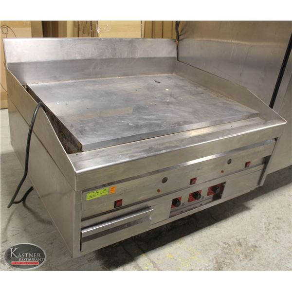3' COMMERCIAL FLAT TOP NATURAL GAS GRIDDLE