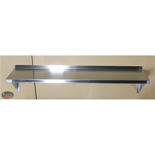 "NEW 60""X14"" STAINLESS STEEL WALL SHELF"
