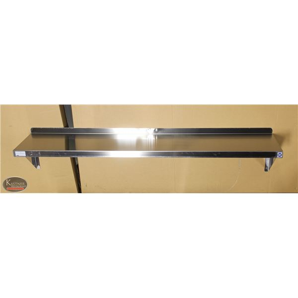 "NEW 60""X12"" STAINLESS STEEL WALL SHELF"