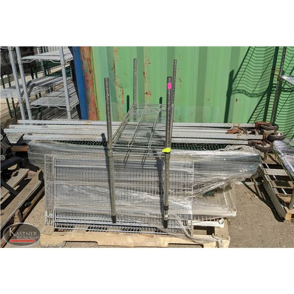 PALLET OF ASSORTED WIRE RACKING