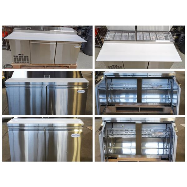 FEATURED LOTS: NEW STAINLESS STEEL PREP STATIONS