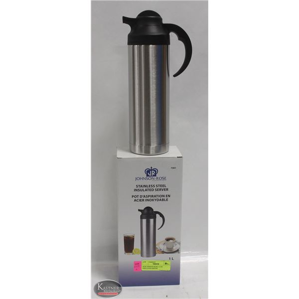 NEW JOHNSON ROSE 1L S/S INSULATED SERVER