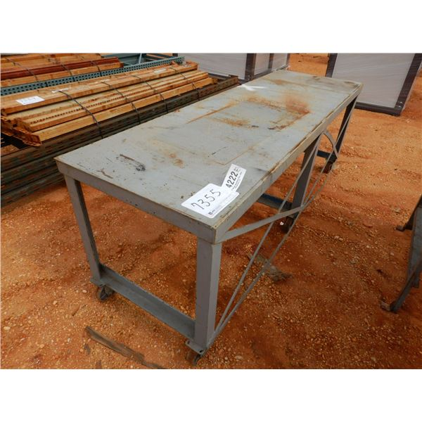 """31"""" x 8' ROLLABLE METAL TABLE (B9)"""