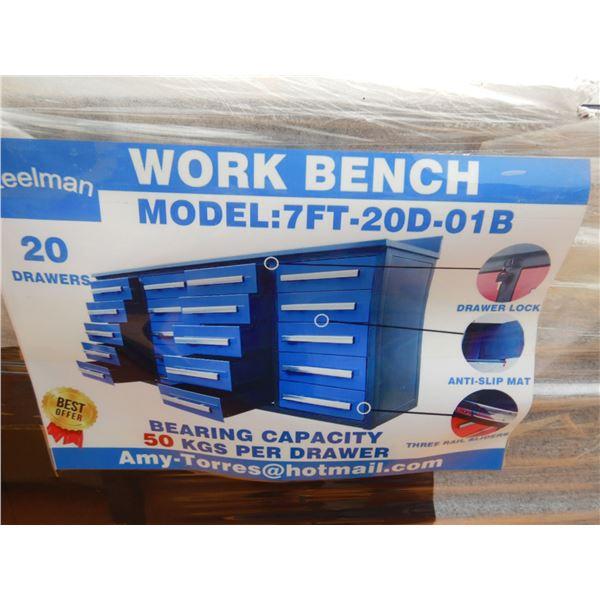 STEELMAN 7' WORK BENCH W/ DRAWERS
