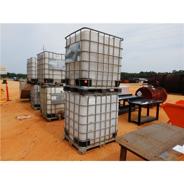 (2) 330 GALLON PLATSIC TANK W/ METAL CAGE (B7)