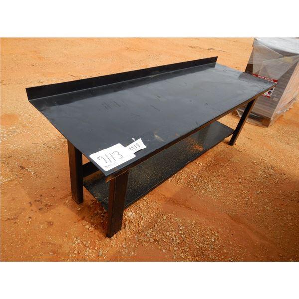 "30"" X 70"" STEEL WORK TABLE (B7)"