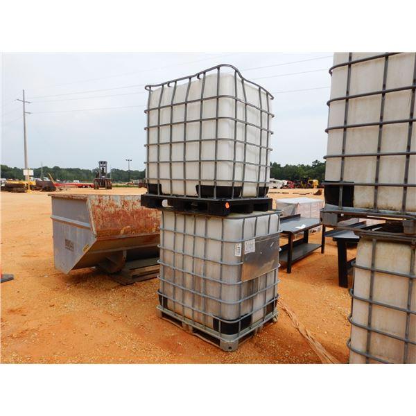 (2) 300 GALLON PLASTIC TANK W/ METAL CAGE (B7)