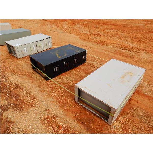 (3) 4 DRAWER FILE CABINET (B9)
