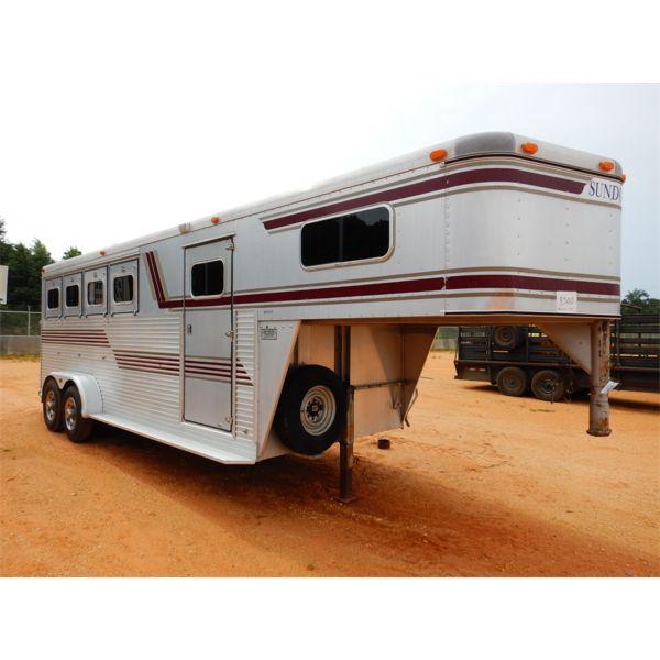 1991 SUNDOWNER HORSE TRAILER Livestock Trailer