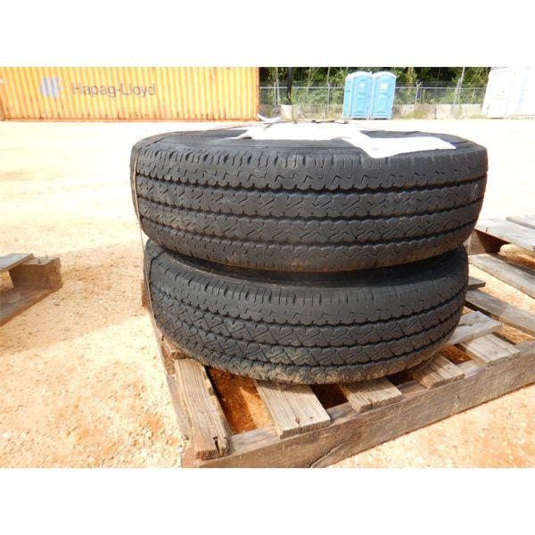 (2) LT215/85R16 TIRES & RIMS (A2)