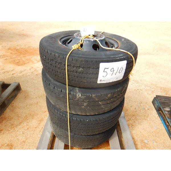(4) LT225/75R16 TIRES & RIMS (A2)