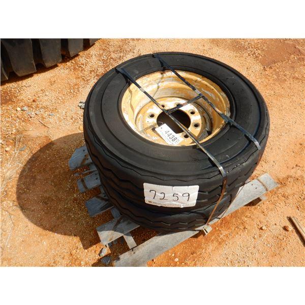 (2) 11L-16 TIRES & RIMS (B9)